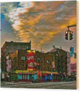 Seventh And Bleeker At Sunrise Nyc Wood Print