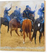 Seventh Cavalry In Action Wood Print
