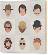 Seventies Movie Dudes Wood Print