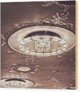 Severance Hall Ceiling Detail   Wood Print