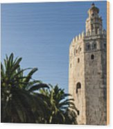 Seville - A View Of Torre Del Oro 2 Wood Print