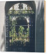 Seville City Courtyard Wood Print