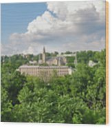 Seville Schofields Mill And St John The Baptist - Manayunk Wood Print