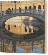 Seville, Spain Tile Bridge Wood Print