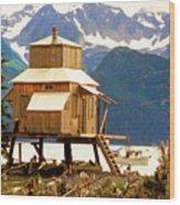 Seward Alaska House Of Stilts Wood Print
