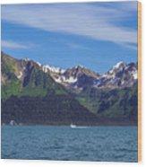 Seward Mountains Wood Print