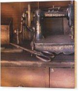 Sewing - New National Sewing Machine  Wood Print