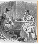 Sewing, 19th Century Wood Print