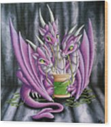 Sewing Dragons Wood Print