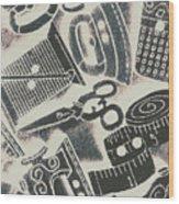Sewing Scenes Wood Print