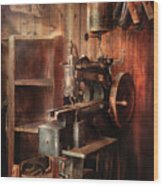 Sewing - Sewing Machine For Saddle Making Wood Print
