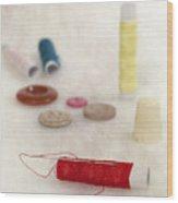 Sewing Supplies Wood Print