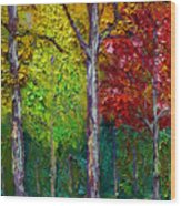 Sewp Fall Wood Print
