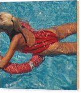 Sexy Red Bikini Wood Print