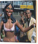 Sexy Woman In Valencia Wood Print