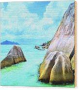 Seychelles Shallows Wood Print