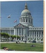 Sf City Hall 2 Wood Print