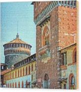 Sforza Castle Milan Italy Wood Print