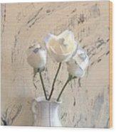 Shabbi Chic Roses Wood Print