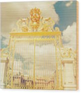 Shabby Chic Gold Gate Versailles Wood Print