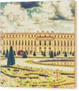 Shabby Chic Hdr Panorama Versailles Paris Wood Print