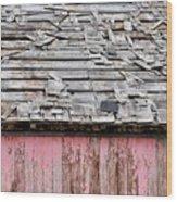 Shabby Shingles  Wood Print