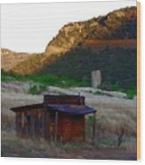 Shack In The Canyons Wood Print
