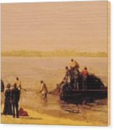 Shad Fishing At Gloucester On The Delaware River 1881 Wood Print