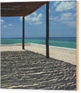 Shade By The Beach Wood Print