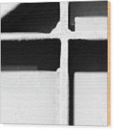 Shaded Cross Wood Print