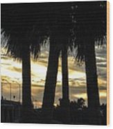 Shaded Palms Wood Print