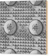 Shades Of Gray Dots Portrait Edition Wood Print