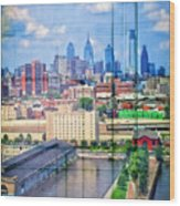 Shades Of Philadelphia Wood Print