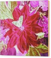 Shades Of Pink Flowers Wood Print