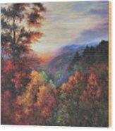 Shades Of Twilight Wood Print