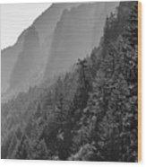 Shadow Cliffs Wood Print