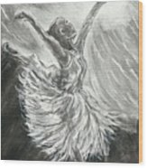 Shadow Dancer Wood Print