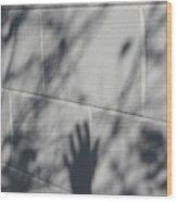Shadow Hand Wood Print
