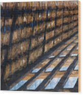 Shadow In Paint Wood Print