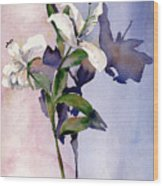 Shadow Lilies Wood Print