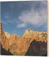 Shadow Mountain Zion National Park Utah Wood Print