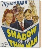 Shadow Of The Thin Man, Myrna Loy Wood Print