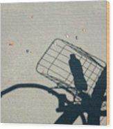 Shadow On The Beach Wood Print