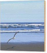 Shadow On The Sand Wood Print