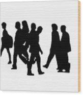 Shadow People Wood Print