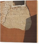 Shadow with Square Window in Venice Wood Print