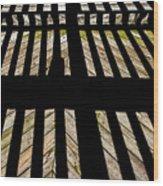 Shadows And Lines - Semi Abstract Wood Print