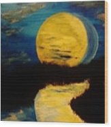 Shadows In The Moon Wood Print