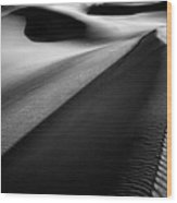 Shadows In The Sand Wood Print