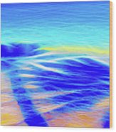 Shadows In The Surf Wood Print